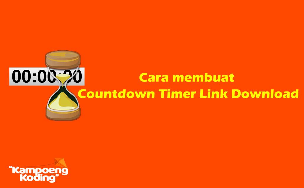 Membuat Script Countdown Timer Link Download